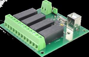 Yamutec 4 Kanal USB Relais Modul - Vorderseite